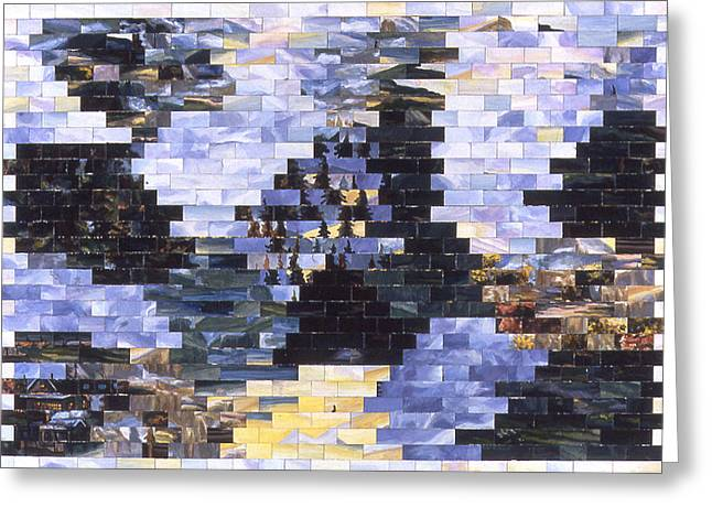 American Landscape After Becky Greeting Card by Karl Frey
