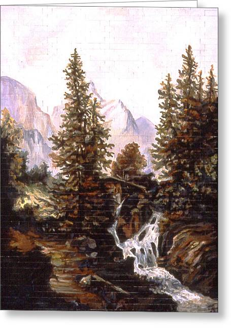 American Landscape Before Frank Greeting Card by Karl Frey
