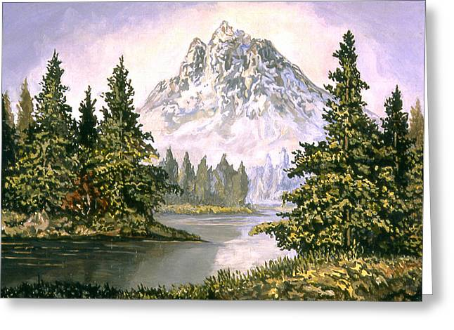 American Landscape Before Greg Greeting Card by Karl Frey