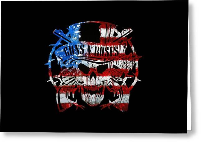 American Made Guns N Roses Greeting Card by Michael Bergman