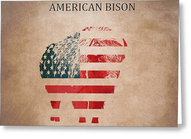 American Mammal The Bison Greeting Card by Dan Sproul