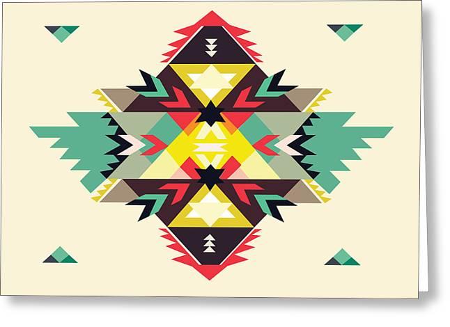 American Native Art No. 11 Greeting Card by Henrik Bakmann