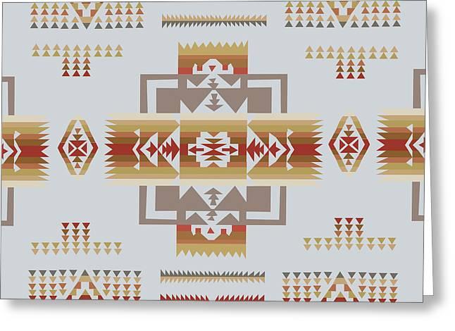 American Native Art No. 14 Greeting Card by Henrik Bakmann