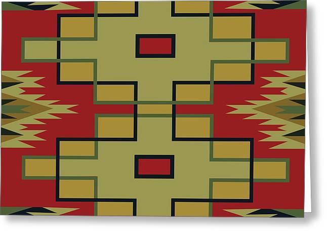 American Native Art No. 22 Greeting Card by Henrik Bakmann