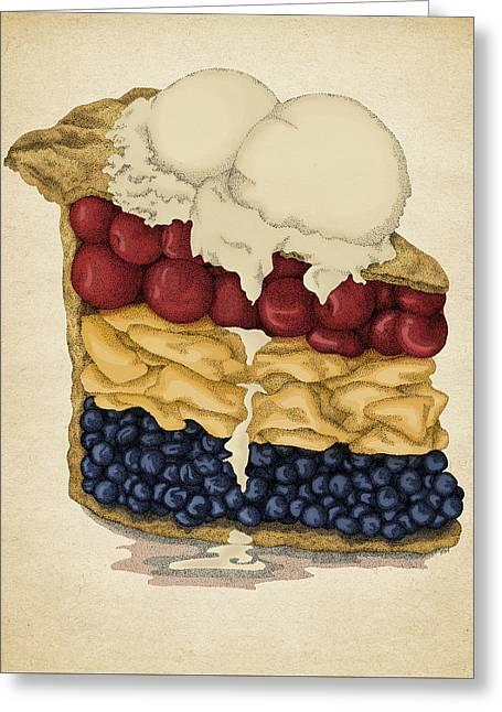 American Pie Greeting Card by Meg Shearer