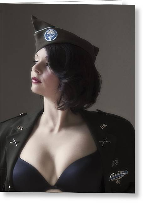 Gi Photographs Greeting Cards - American Pin Up 4 Greeting Card by Mark H Roberts