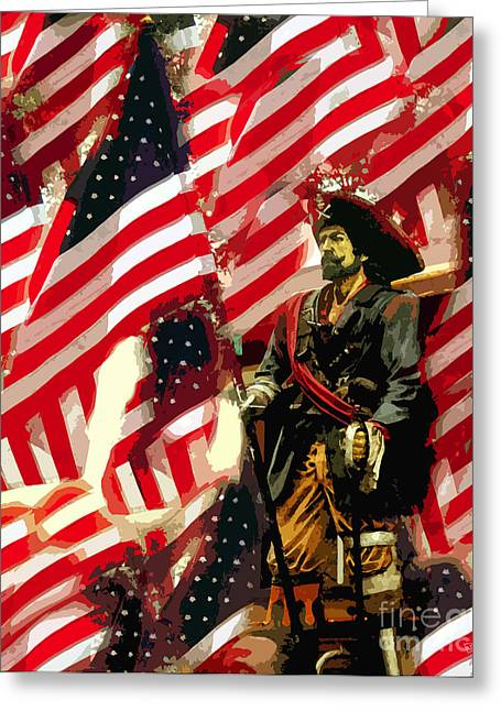 Pirates Greeting Cards - American pirate Greeting Card by David Lee Thompson