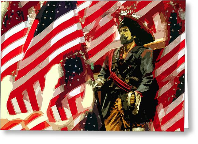 American pirate Greeting Card by David Lee Thompson