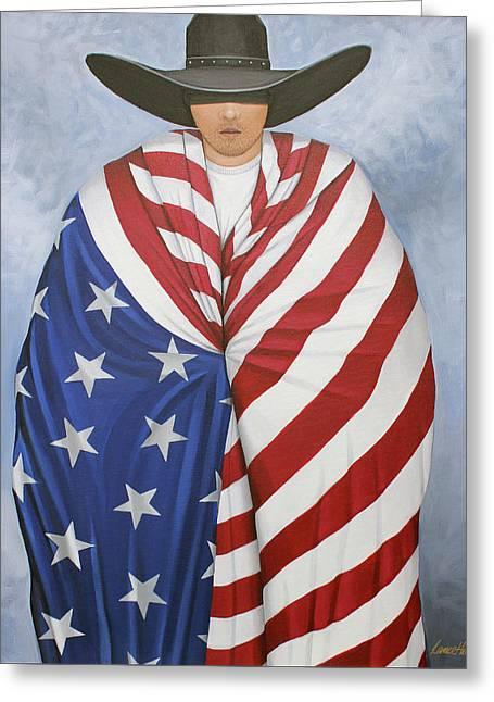 American Pride 2 Greeting Card by Lance Headlee