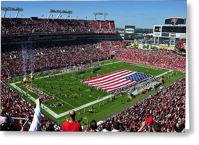 American Pride Greeting Cards - American pride Bucs style Greeting Card by David Lee Thompson