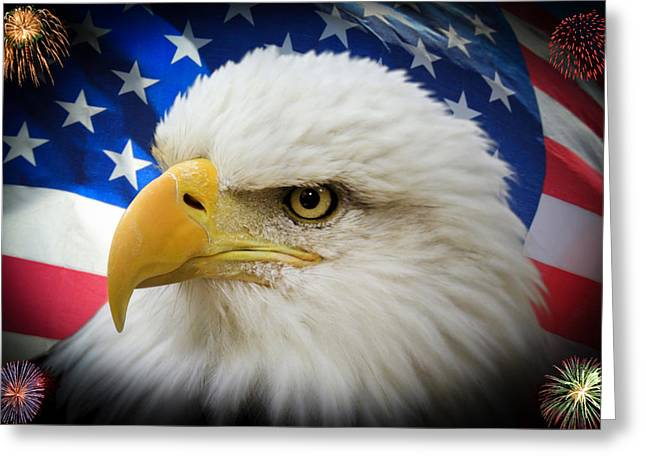 4th Of July Prints Greeting Cards - American Pride Greeting Card by Shane Bechler