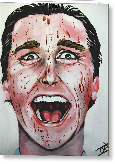 Christian Bale Greeting Cards - American Psycho Greeting Card by Danielle LegacyArts