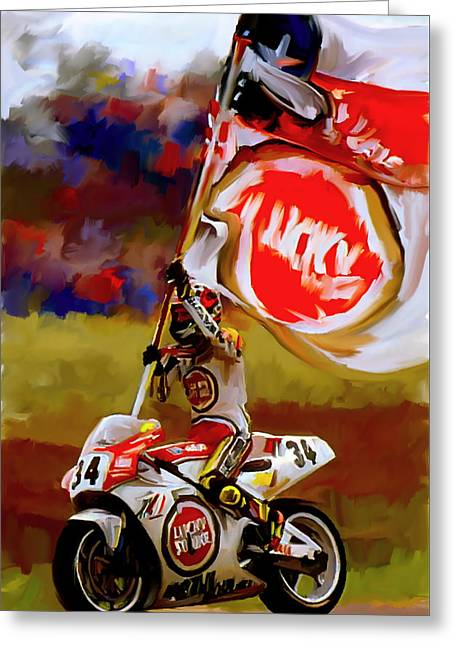 Kevin Greeting Cards - American Revolution I Kevin Schwantz Greeting Card by Iconic Images Art Gallery David Pucciarelli