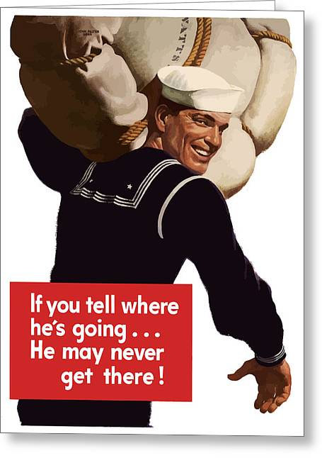 War Propaganda Greeting Cards - American Sailor -- WW2 Propaganda Greeting Card by War Is Hell Store