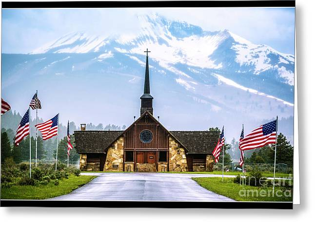 American Soldiers Chapel Greeting Card by Nancy Forehand