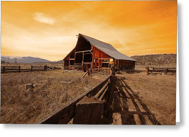 American Tale Greeting Card by Jeff Burgess