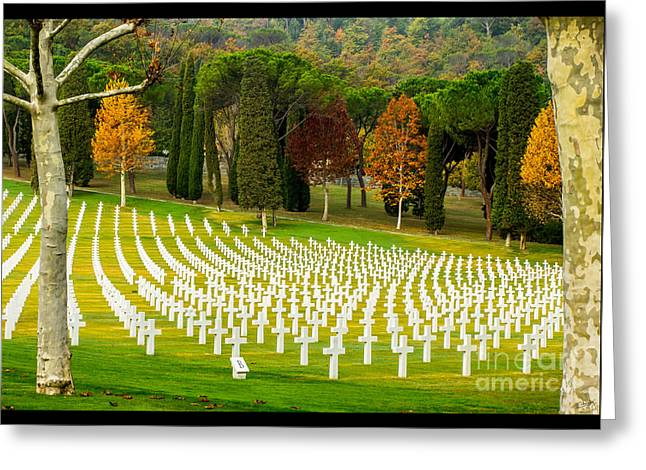 Charly Greeting Cards - American WW II Cemetery Greeting Card by Prints of Italy