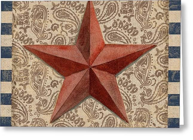 Star Barn Greeting Cards - Americana Barn Star I Greeting Card by Paul Brent