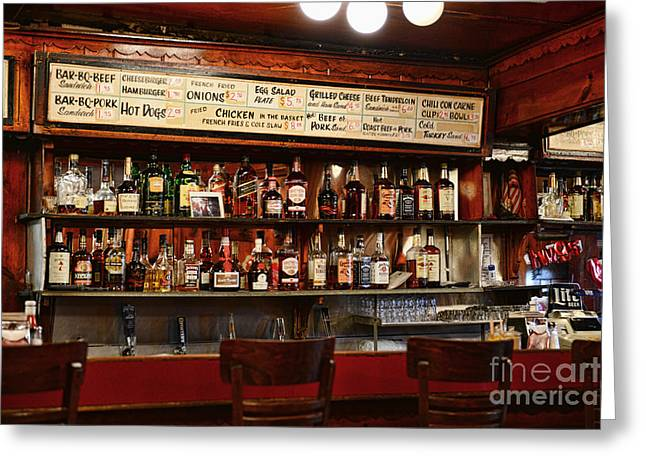 Spirt Greeting Cards - Americana - The Old Man Bar Greeting Card by Paul Ward