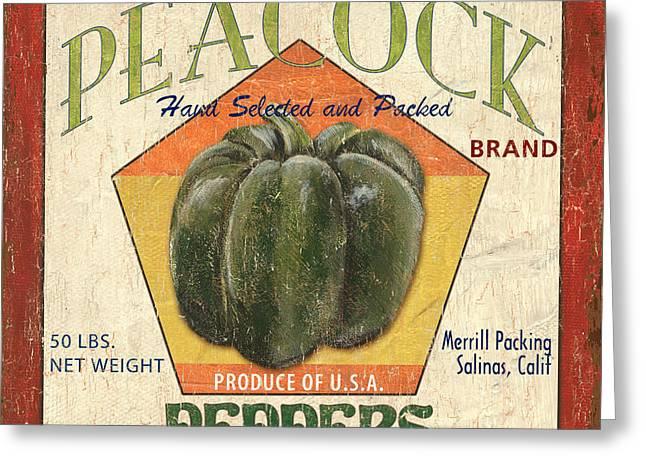 Americana Vegetables 1 Greeting Card by Debbie DeWitt