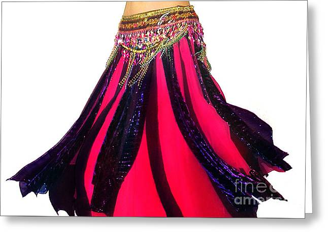 Ameynra Design - Petal Skirt For Dance Greeting Card by Sofia Goldberg