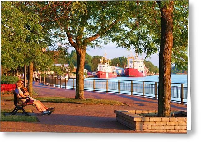 Coastguard Digital Greeting Cards - Amherstburg Coastguard Greeting Card by Glen W Ferguson