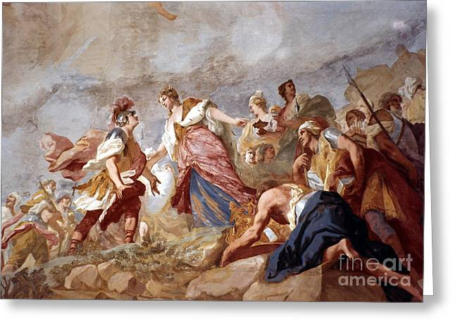 18th Century Greeting Cards - Amigoni: Dido And Aeneas Greeting Card by Granger