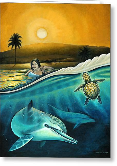 Nathan Miller Greeting Cards - Amigos del Mar Greeting Card by Nathan Miller