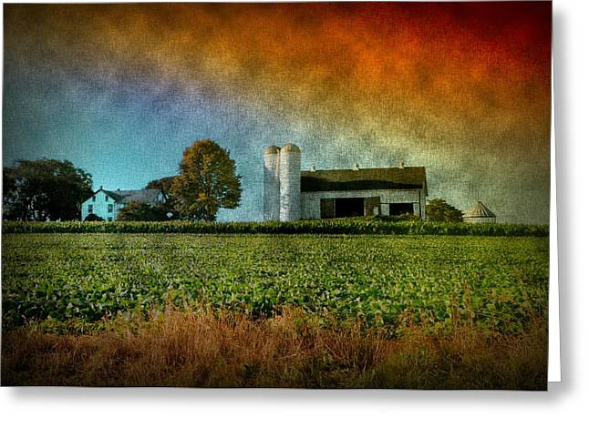 Amish Farms Digital Art Greeting Cards - Amish Country Farm Greeting Card by Bill Cannon