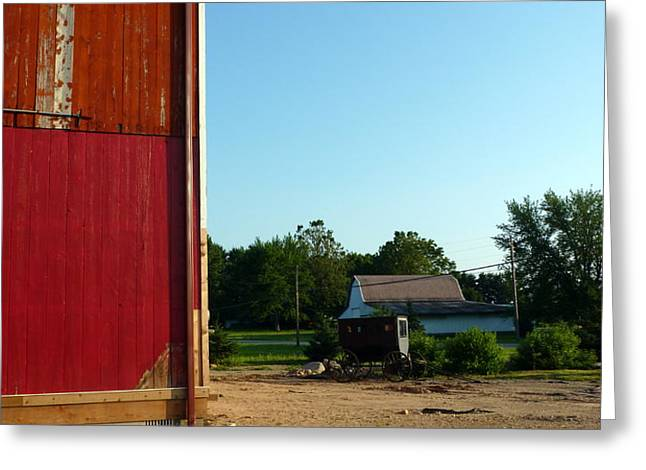 Amish Country Greeting Card by Robert Babler