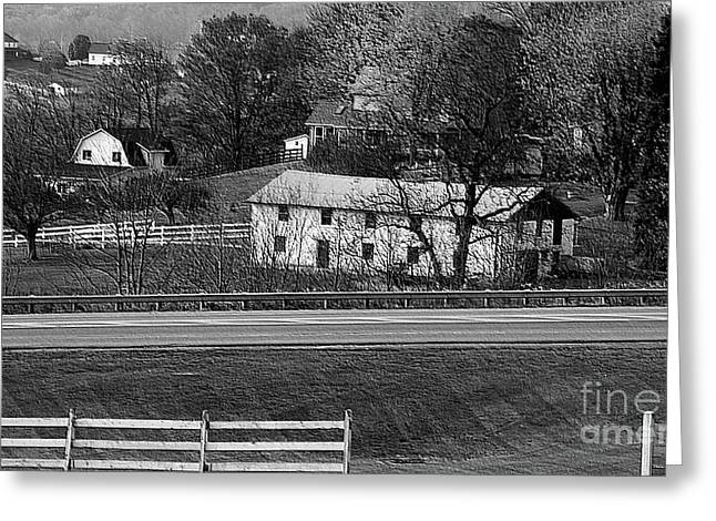 Amish Photographs Photographs Greeting Cards - Amish Farm Greeting Card by Kathleen Struckle