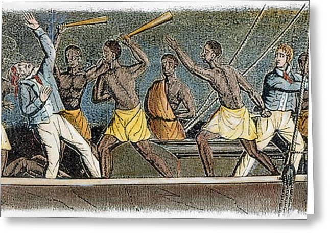 Slaves Greeting Cards - Amistad Slave Mutiny, 1839 Greeting Card by Granger