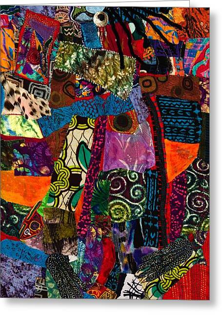 Dot Tapestries - Textiles Greeting Cards - Amma Greeting Card by Gwendolyn Aqui-Brooks