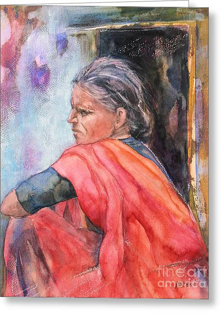 Kate Bedell Greeting Cards - Amma Greeting Card by Kate Bedell