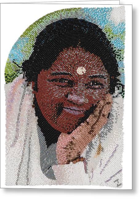 Amma  Greeting Card by Zoe Byrd
