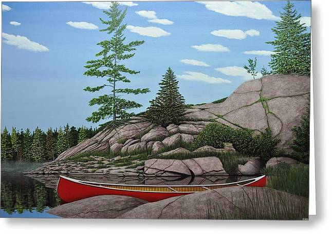 Among The Rocks II Greeting Card by Kenneth M  Kirsch