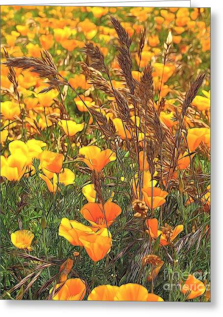 Purchase Greeting Cards - Amongst the Poppies Greeting Card by Patrick Witz
