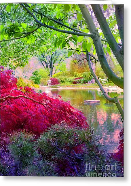 Recently Sold -  - Flower Blossom Greeting Cards - Amongst the Trees in the Gardens Greeting Card by Tara Turner