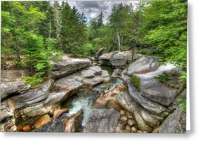 Purchase Greeting Cards - Amonoosuc Upper Falls Greeting Card by Jonathan Ramsdell