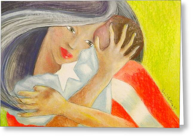 Puerto Rico Pastels Greeting Cards - Amor eterno Greeting Card by Mayra  Martinez
