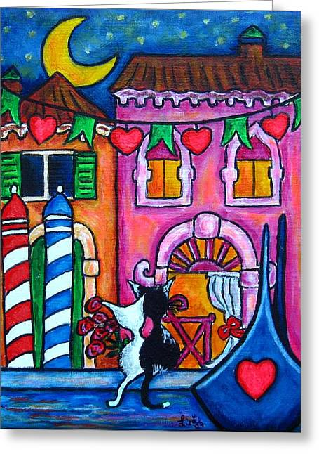 Amore In Venice Greeting Card by Lisa  Lorenz