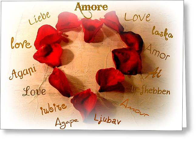 Liebe Greeting Cards - Amore  Greeting Card by Kathy Bucari