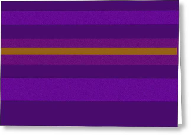 Purple Couch Greeting Cards - Amore purple Greeting Card by Anne Cameron Cutri
