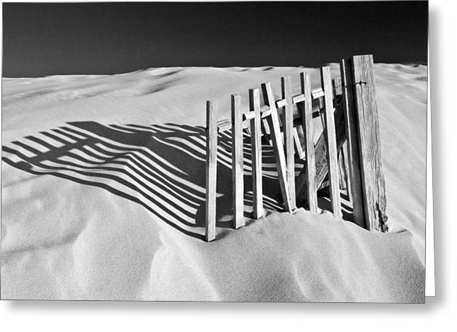 Dunes Greeting Cards - Amoreira Shadows Greeting Card by John McKinlay