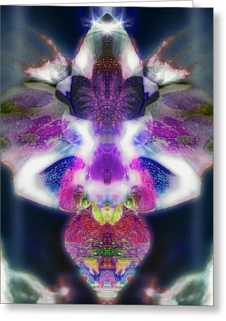 Angel Blues Greeting Cards - Ampharool Greeting Card by Raymel Garcia