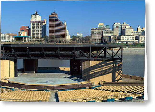 Tennessee River Greeting Cards - Amphitheatre On Island In Middle Greeting Card by Panoramic Images