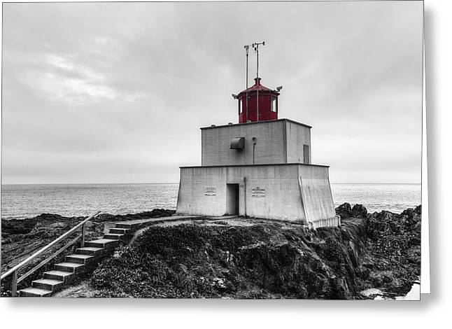 Amphitrite Point Lighthouse Greeting Card by Mark Kiver