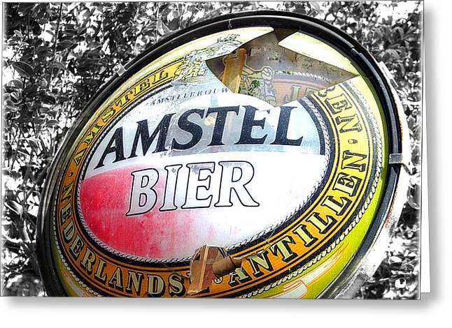 Amstel Bier  Greeting Card by Steven Digman