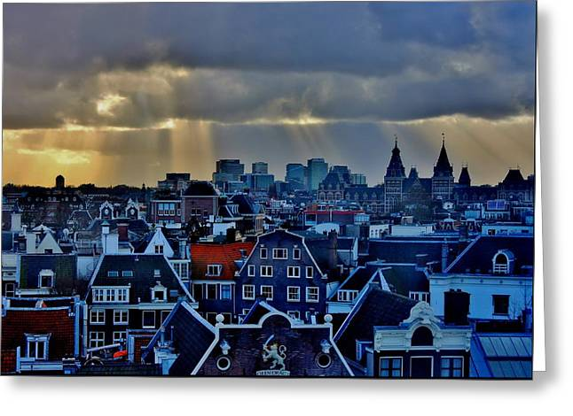 Amsterdam After The Storm Greeting Card by Stacie Gary
