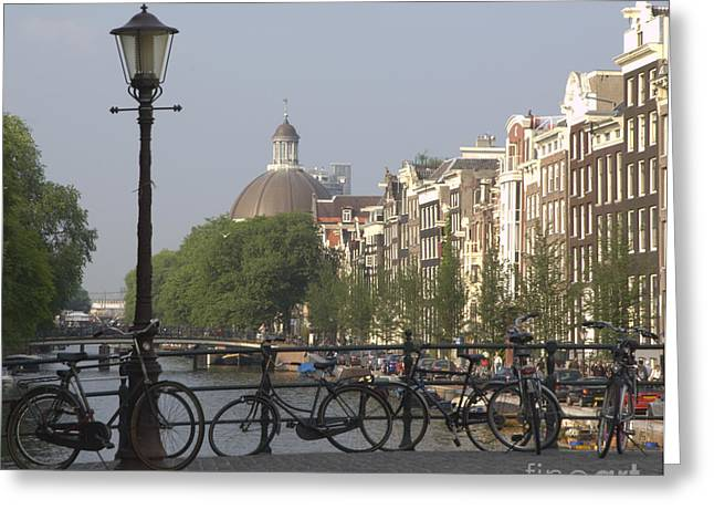 Amsterdam Greeting Cards - Amsterdam Bridge Greeting Card by Andy Smy